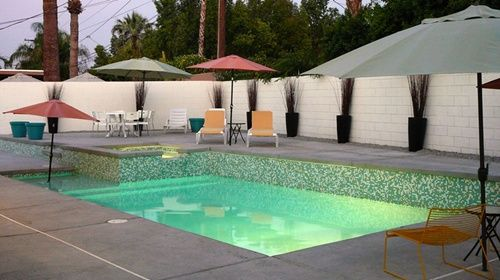 Mid century modern palm springs swimming pool in ashbury for Pool design 1970