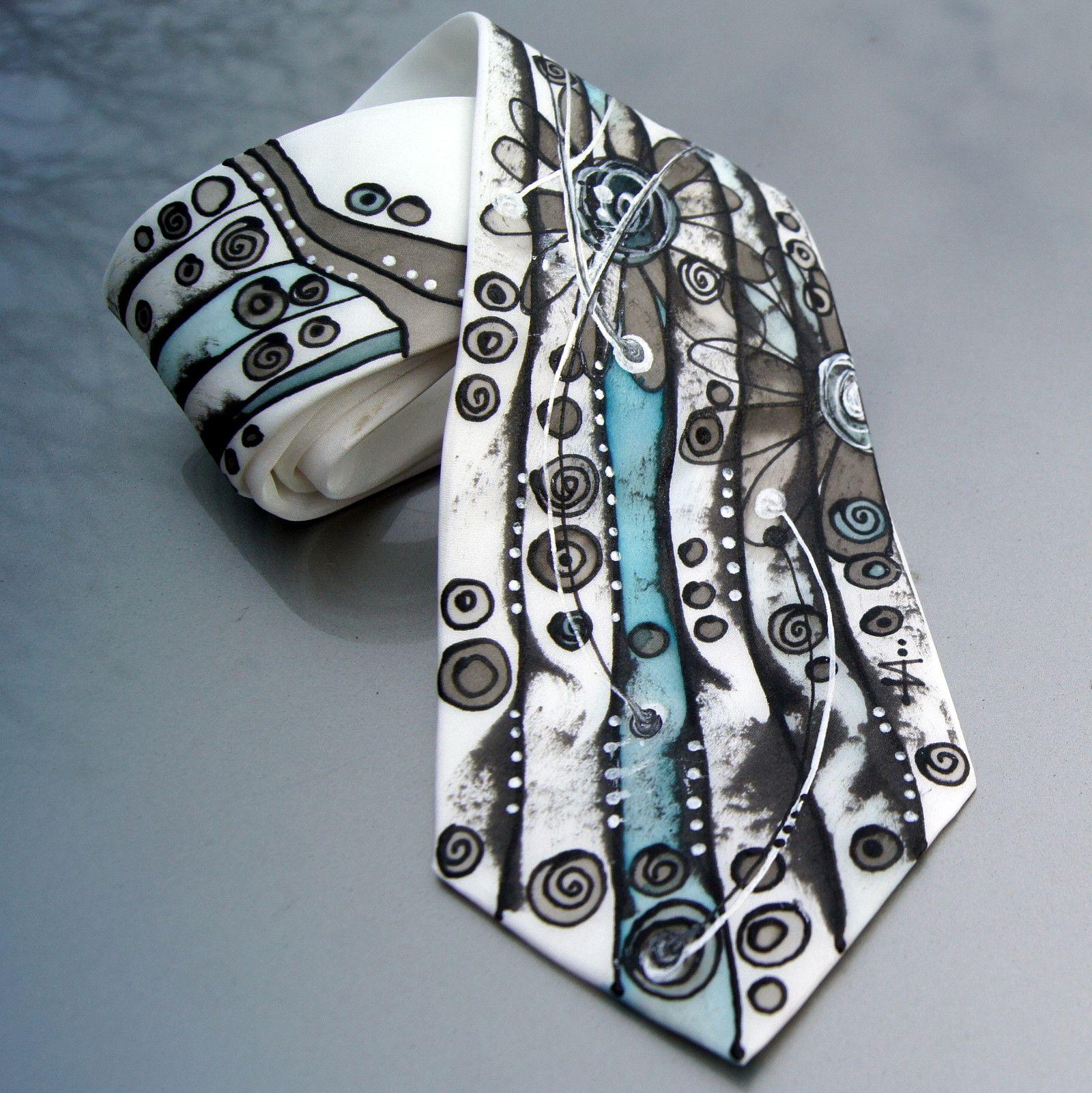 Malovaná kravata pro originálního muže Materiál  100 % hedvábí ... f33d9dd78c