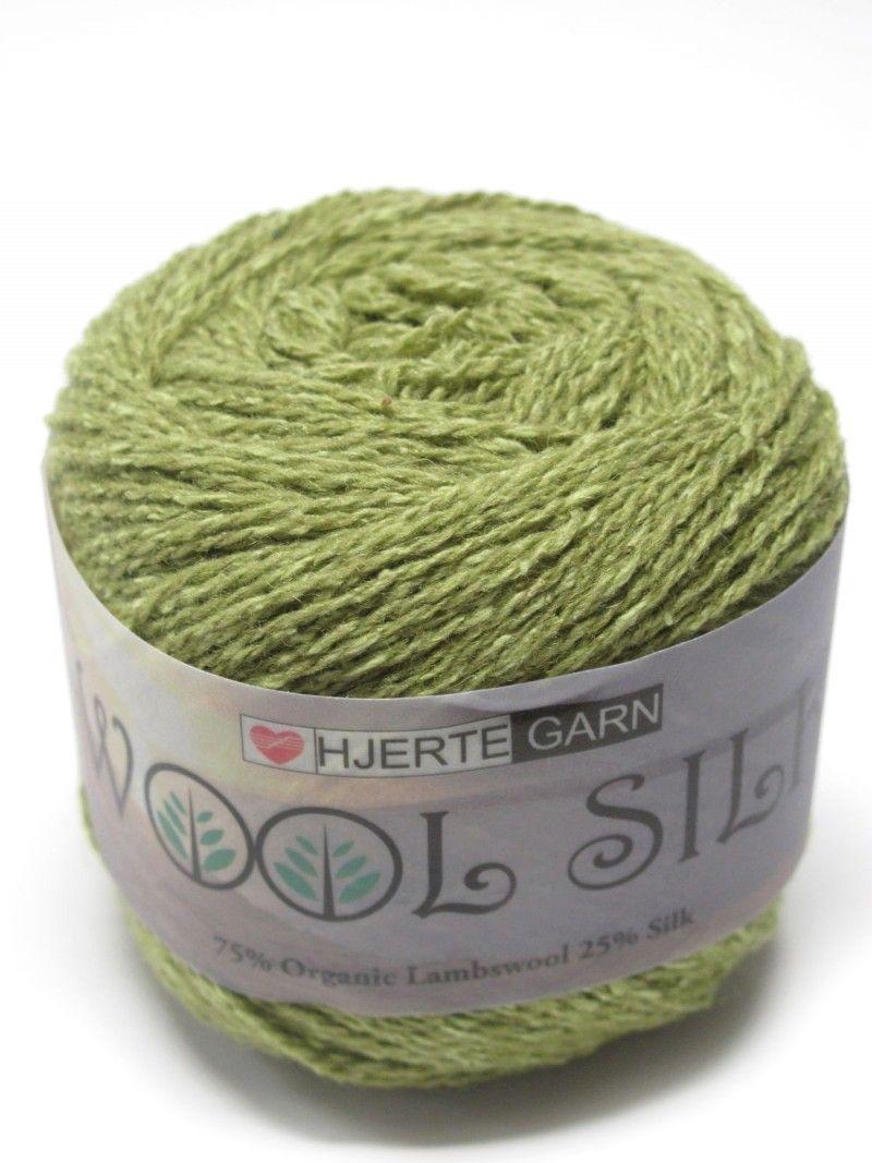 Wool Silk 50g Hjertegarn,  75% ekologinen villa, 25% silkki, 50g=300m