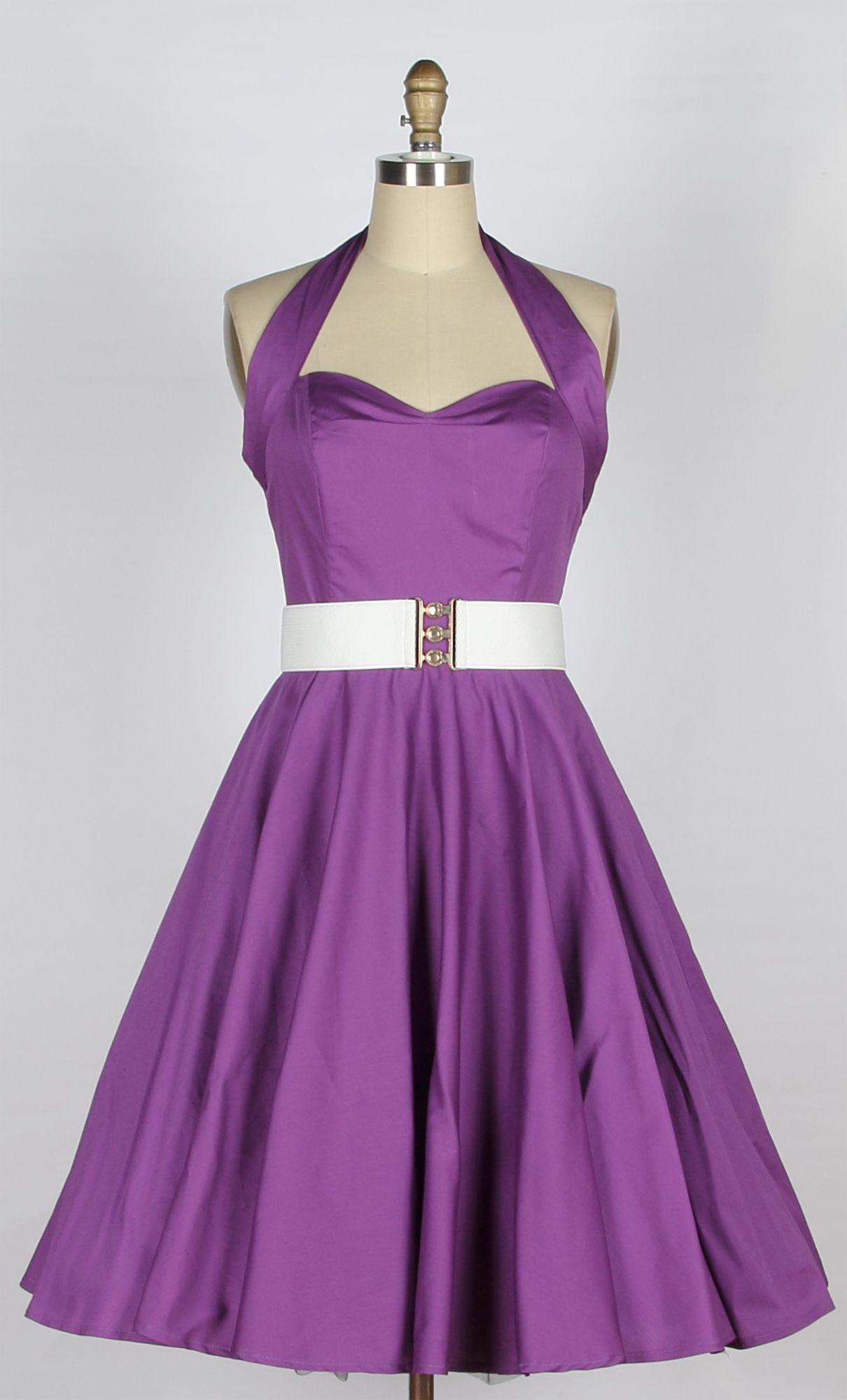Charming purple dress httpikuzoladycharming purple dress halterneck cotton swing dress purple queen of holloway dressing shop ombrellifo Gallery
