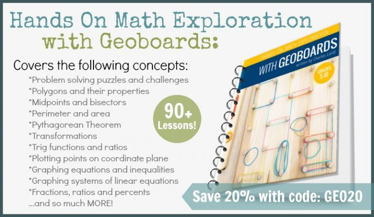 Hands On Math Exploration With Geoboards Okul