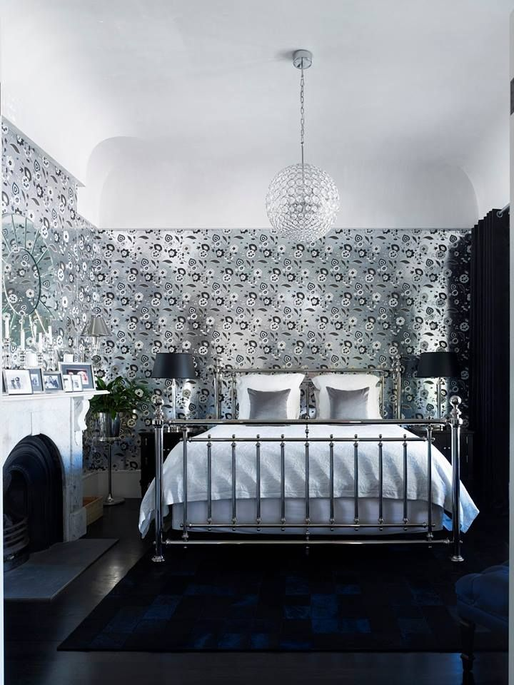 Elegante Schwarz-Weiß-Kontraste: Tapete Aus Der Waldorf Collection