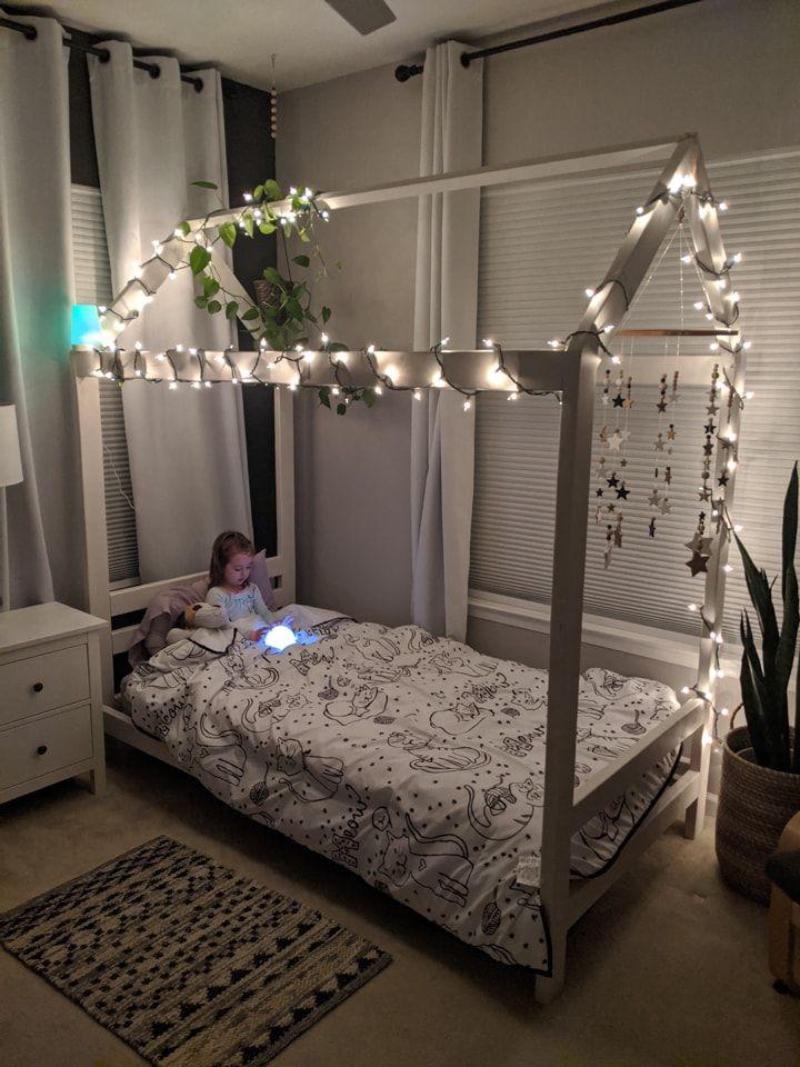 Diy toddler house bed frame ramonas chic big girl bed