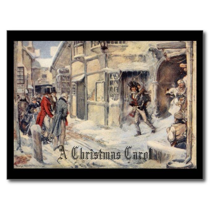 A Christmas Carol Holiday Postcard