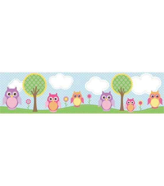Owls In The Hood Light Blue Owl Wallpaper Border Owl