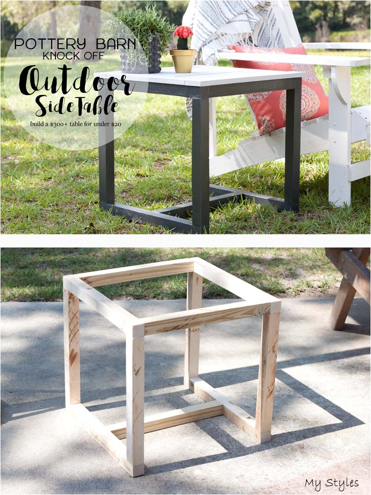 Create Your Own Diy Outdoor Side Table, Patio Furniture Under 300