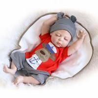 "23/"" Full Body Silicone Boy Doll Reborn Realistic Baby Toy Lovely Sleeping Bebes"