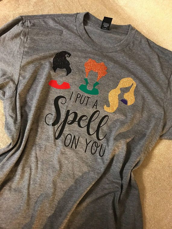 9e9f703ad6fd I put a Spell on you Shirt, Halloween Shirt, Hocus Pocus Shirt, Fun Halloween  shirt, Witch Shirt, S