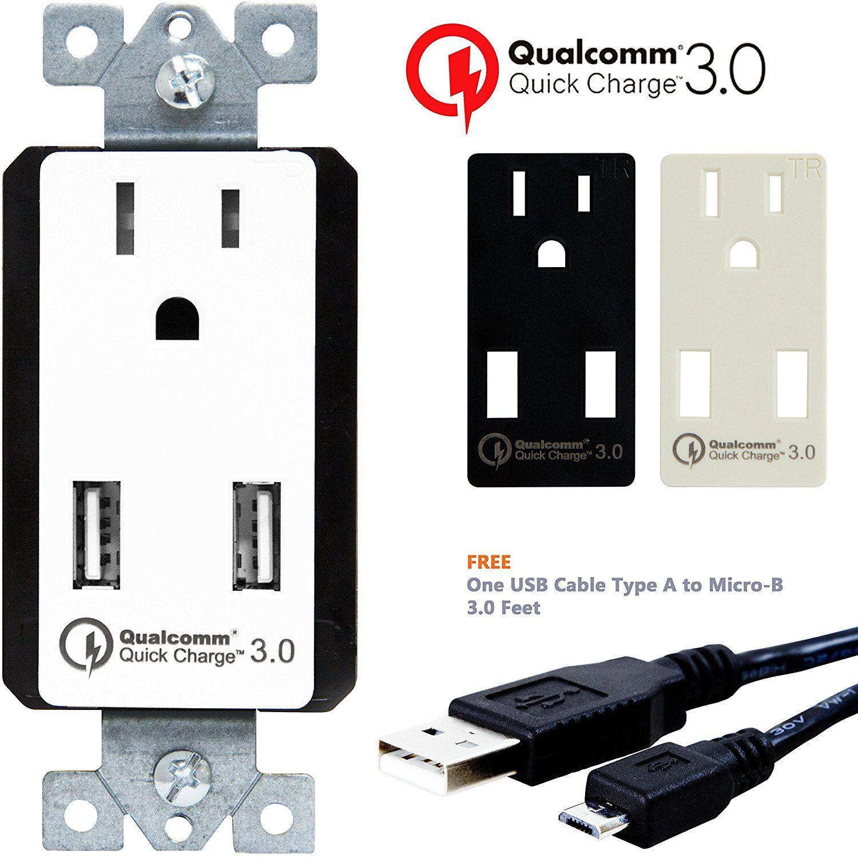 TOPGREENER TU1152QC3 Quick Charge 3.0 Dual USB Wall