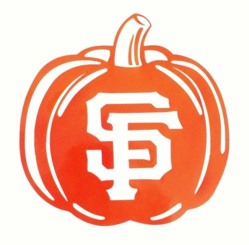 Sf giants jack o lantern decalhalloweendie cut vinyl stickersan