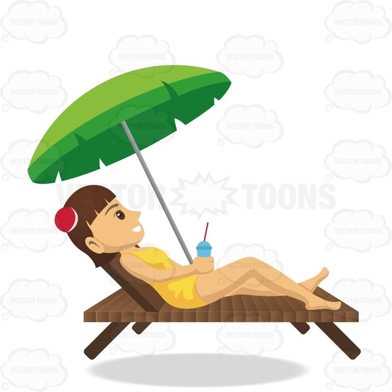 brunette female tourist laying on a beach chair while holding a rh pinterest com