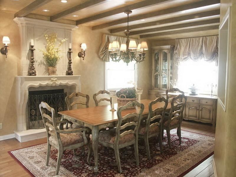Dining Room Old World Style Home Decorating Ideas With Chandelier Enchanting Country French Dining Room Set Design Inspiration