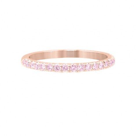 749d06740 Fancy Light Pink Diamond Half Eternity Ring, SKU 25749R (0.34Ct TW ...