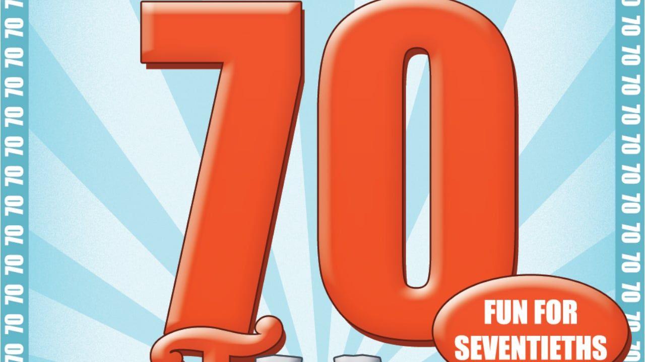 70th Birthday Game 70 Birthday 70th Birthday Gifts And Gaming