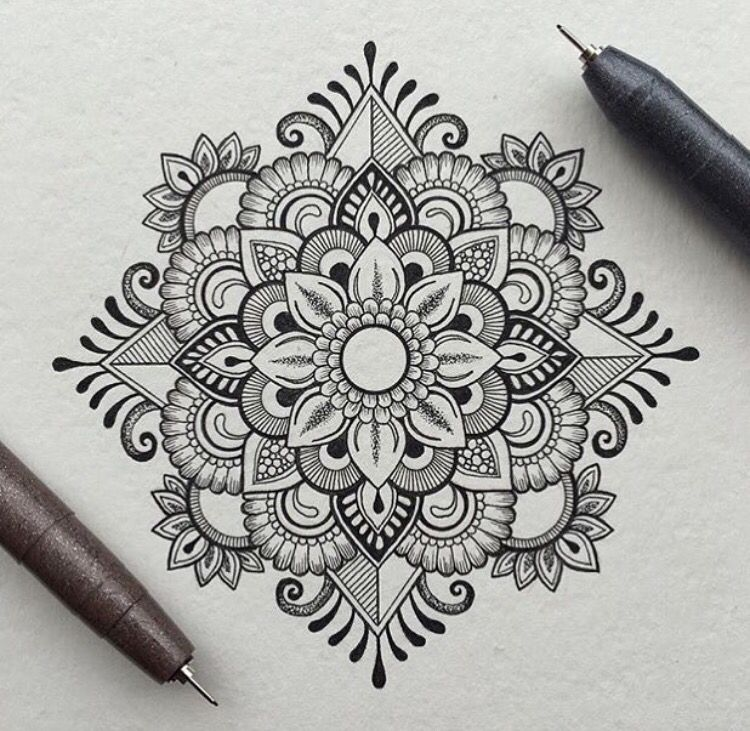 Art Design Drawing : Mandala mehendi art mehendimandalaart