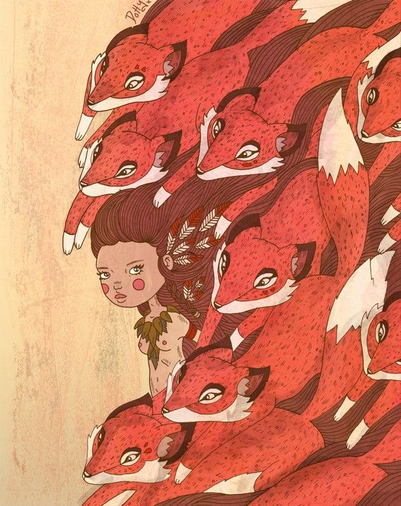 "Brisbane based illustrator Lauren Carney.  A3 Print ""The Fleet"""