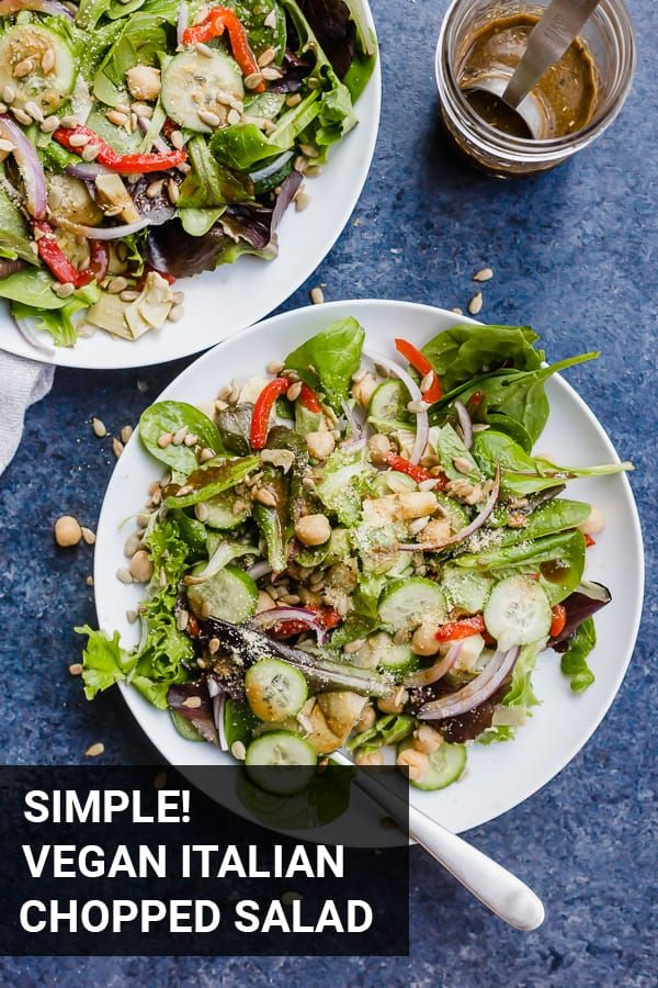 Simple Vegan Italian Chopped Salad