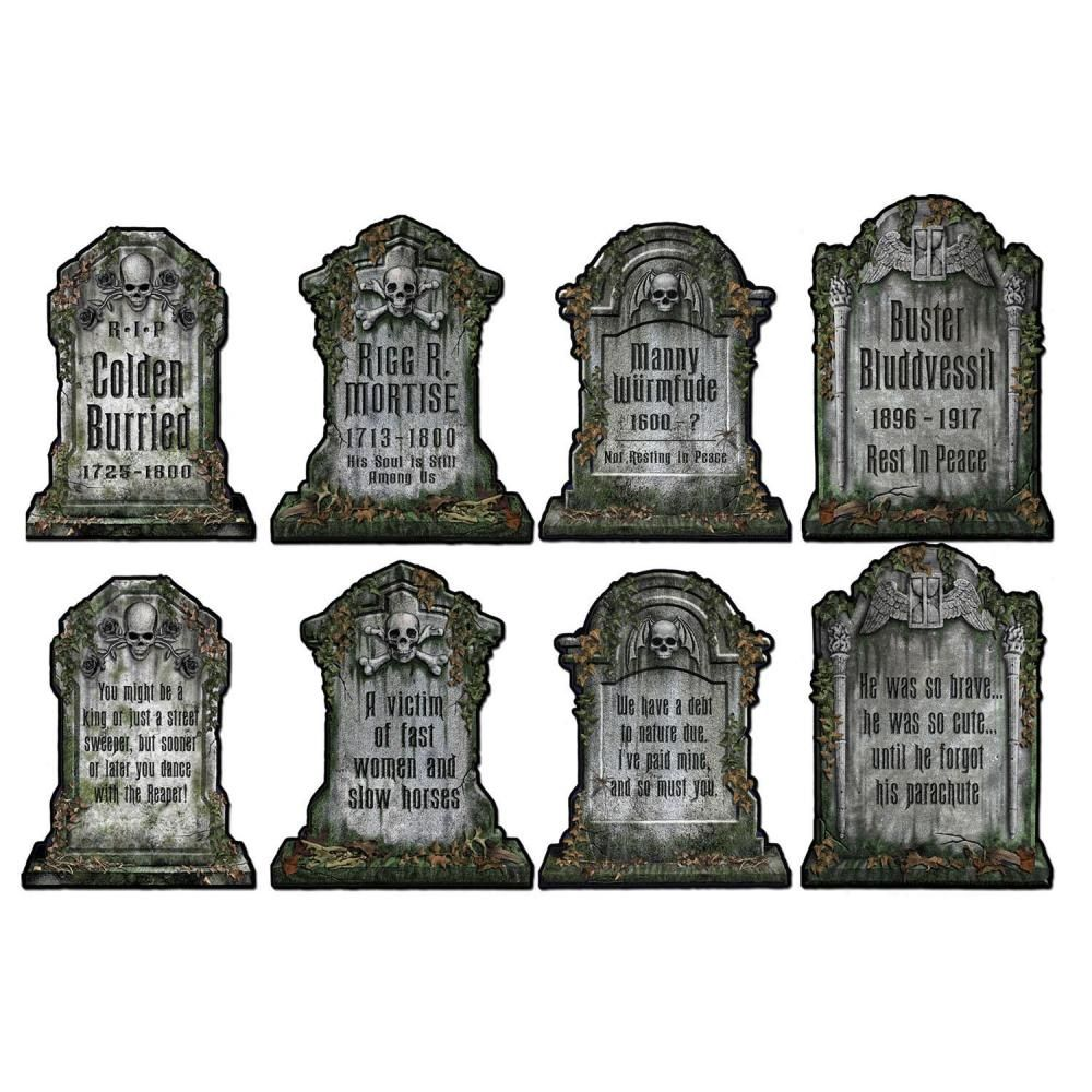 halloween party tombstone cutouts (48ct) | halloween party supplies