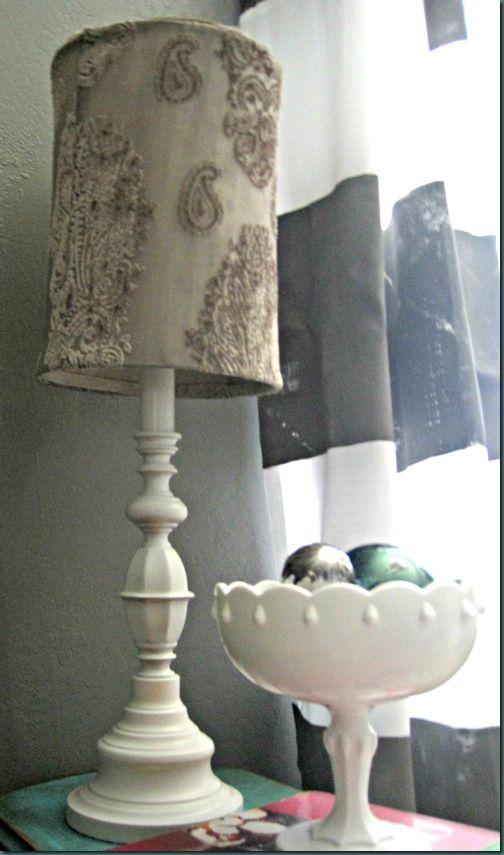 White Lamp Shade Makeover