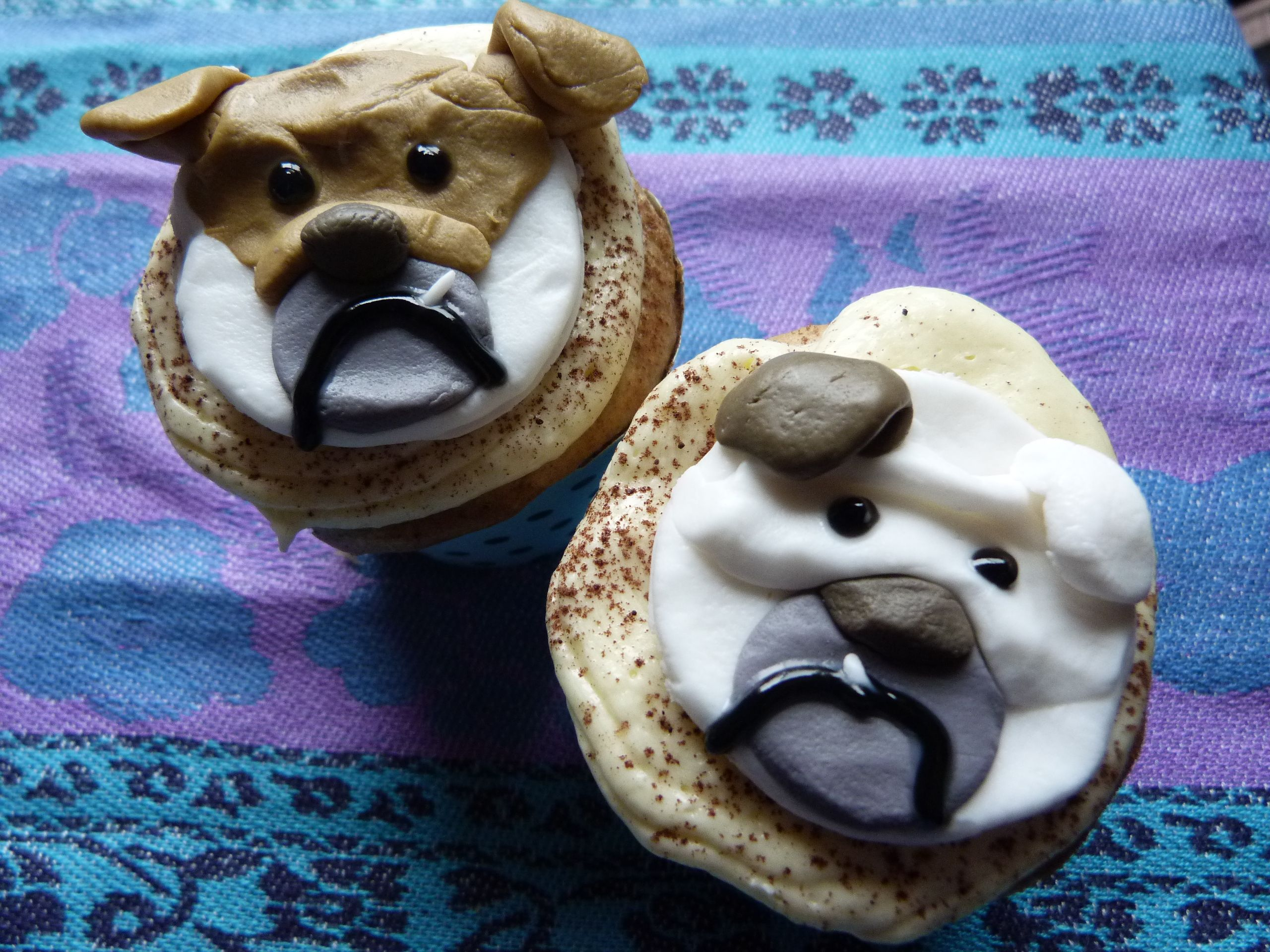 English Bulldog cupcakes Favorite recipes, Food, Food