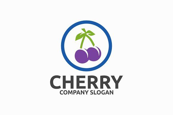 Cherry Templates Logo Template FeaturesAI And EPS Illustrator 10 300PPI CMYK 100 Scalable Vector Files Easy By Brandlogo