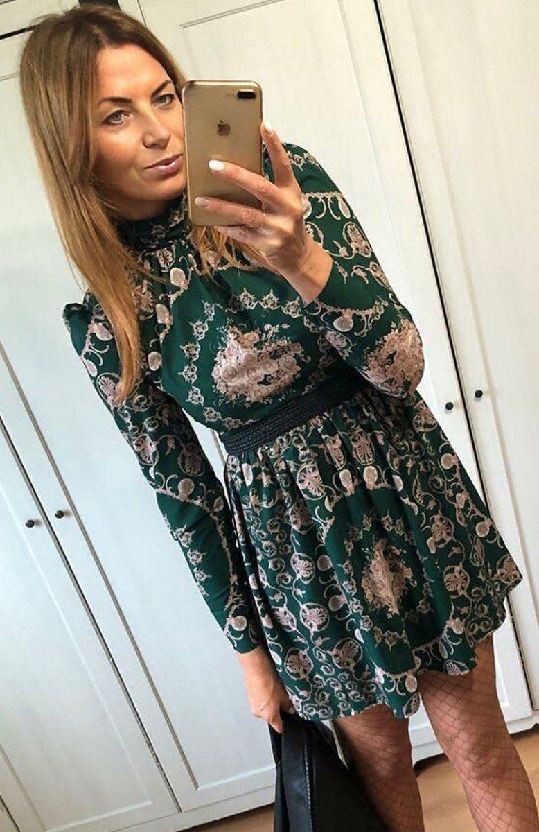 03a294a10f Lola Caris sukienka wzorzysta Niezwykle wygodna a zarazem bardzo urocza  sukienka to idealna propozycja na sezon