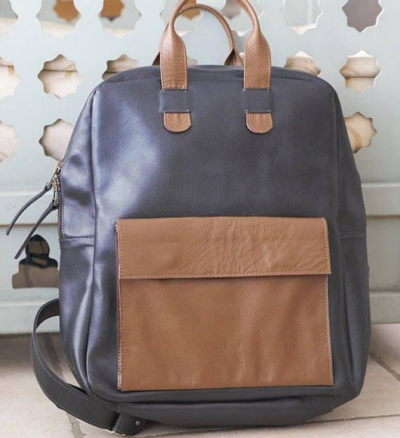 Brown Leather Backpack Leather Bag Laptop Backpack Leather