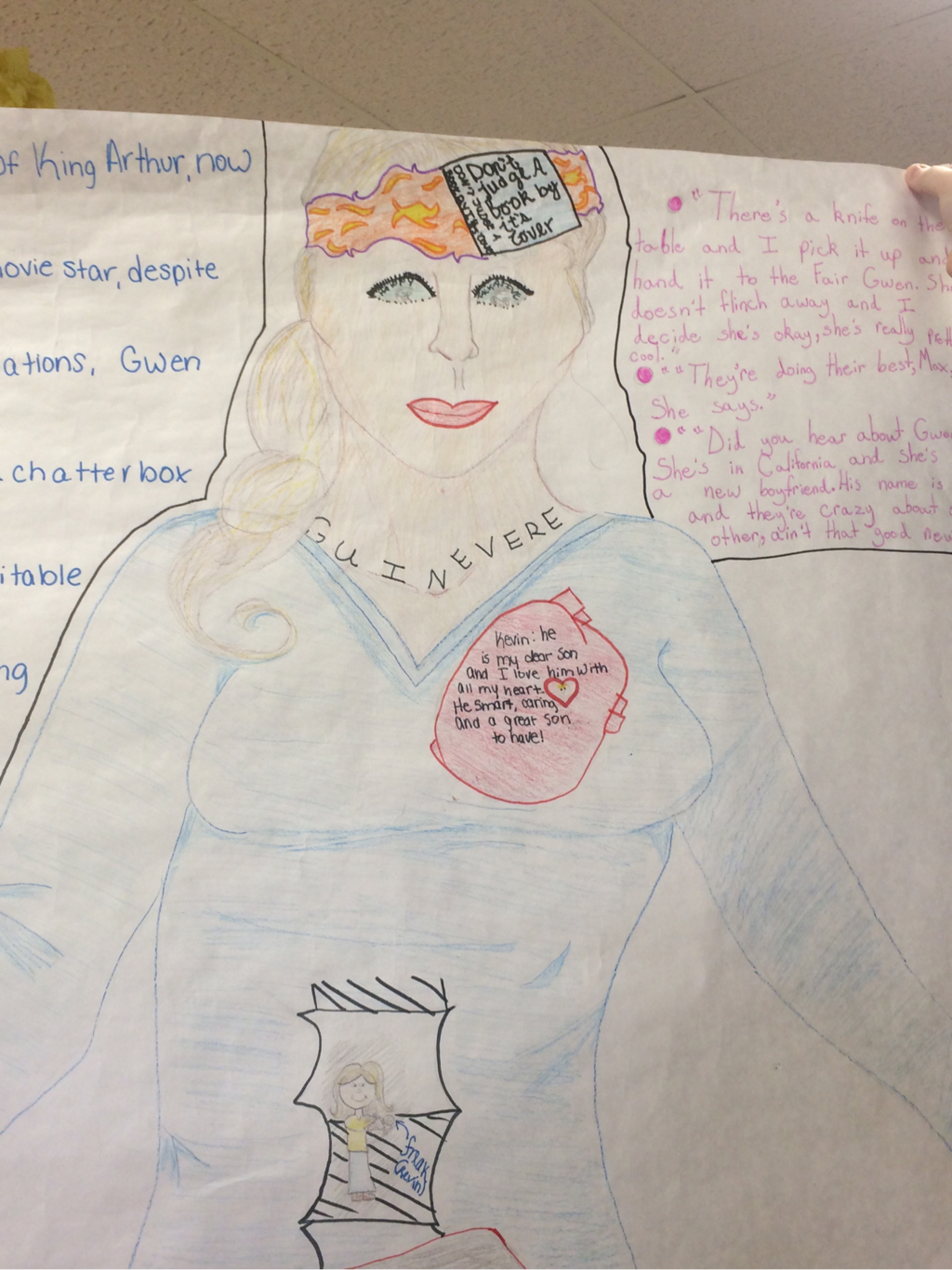 Life-size Body Biography project by Danielle Knight. this was used ...