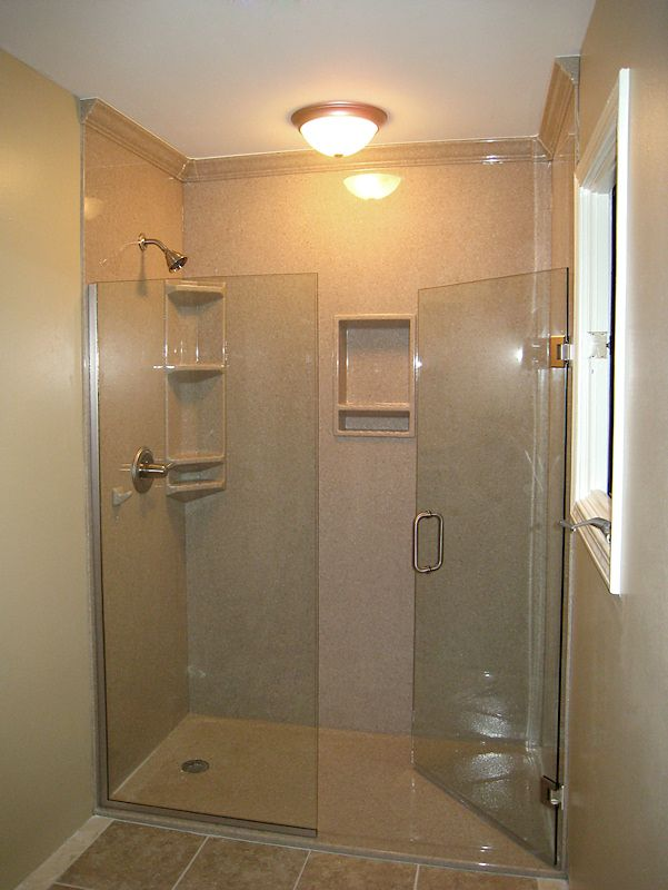 The Onyx Collection Gallery Of Installed Showers Shower Remodel Bathroom Remodel Shower Corian Shower Walls
