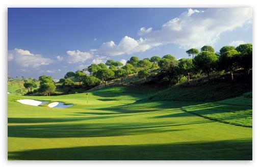 Golf Course Hd Wallpaper For 4k Uhd Widescreen Desktop Smartphone Golf Courses Golf Trophies Golf