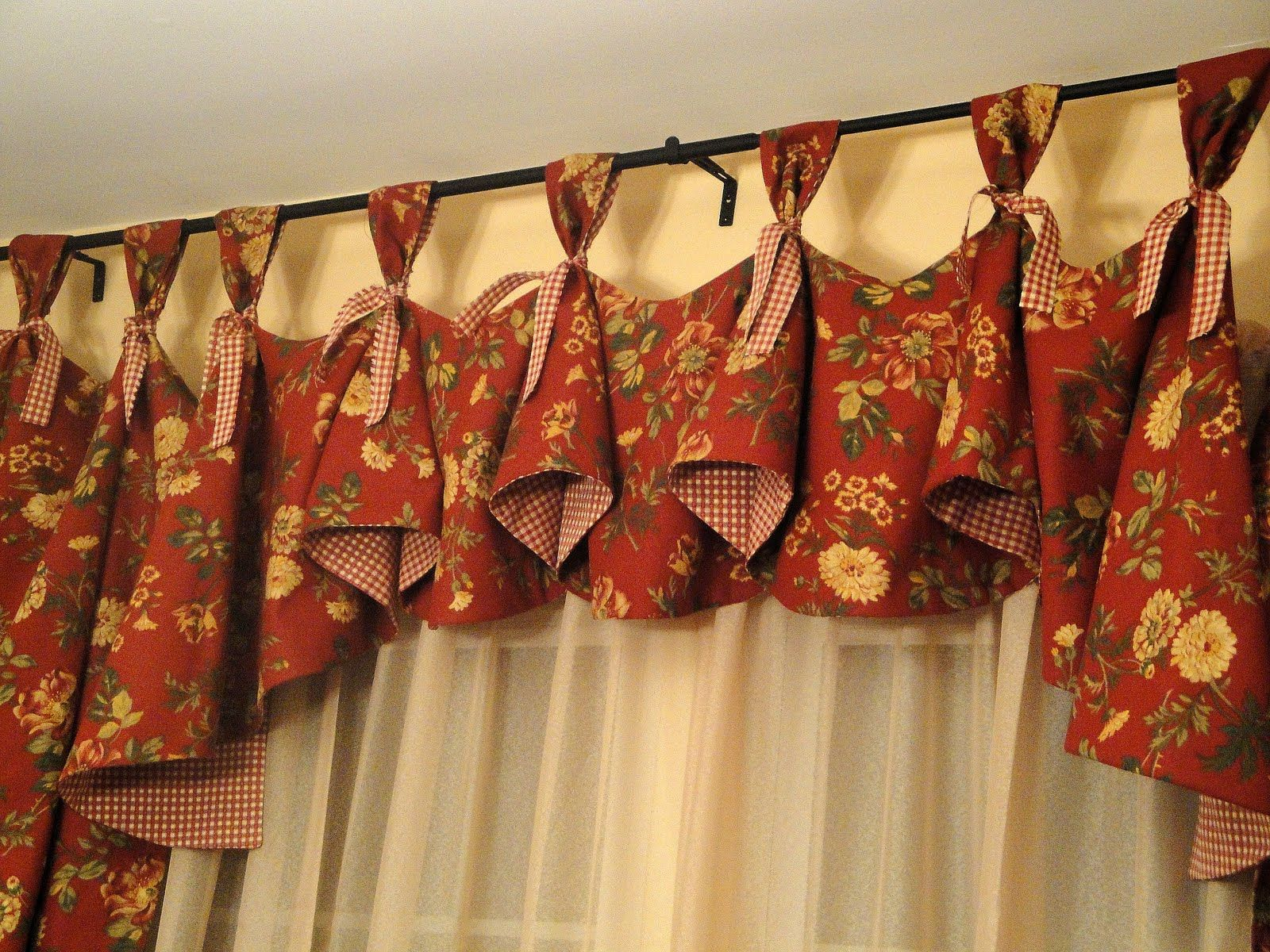 Patterns For Kitchen Curtains And Valances Dining Room Curtains Handmade By Me In 2019 Dining Room