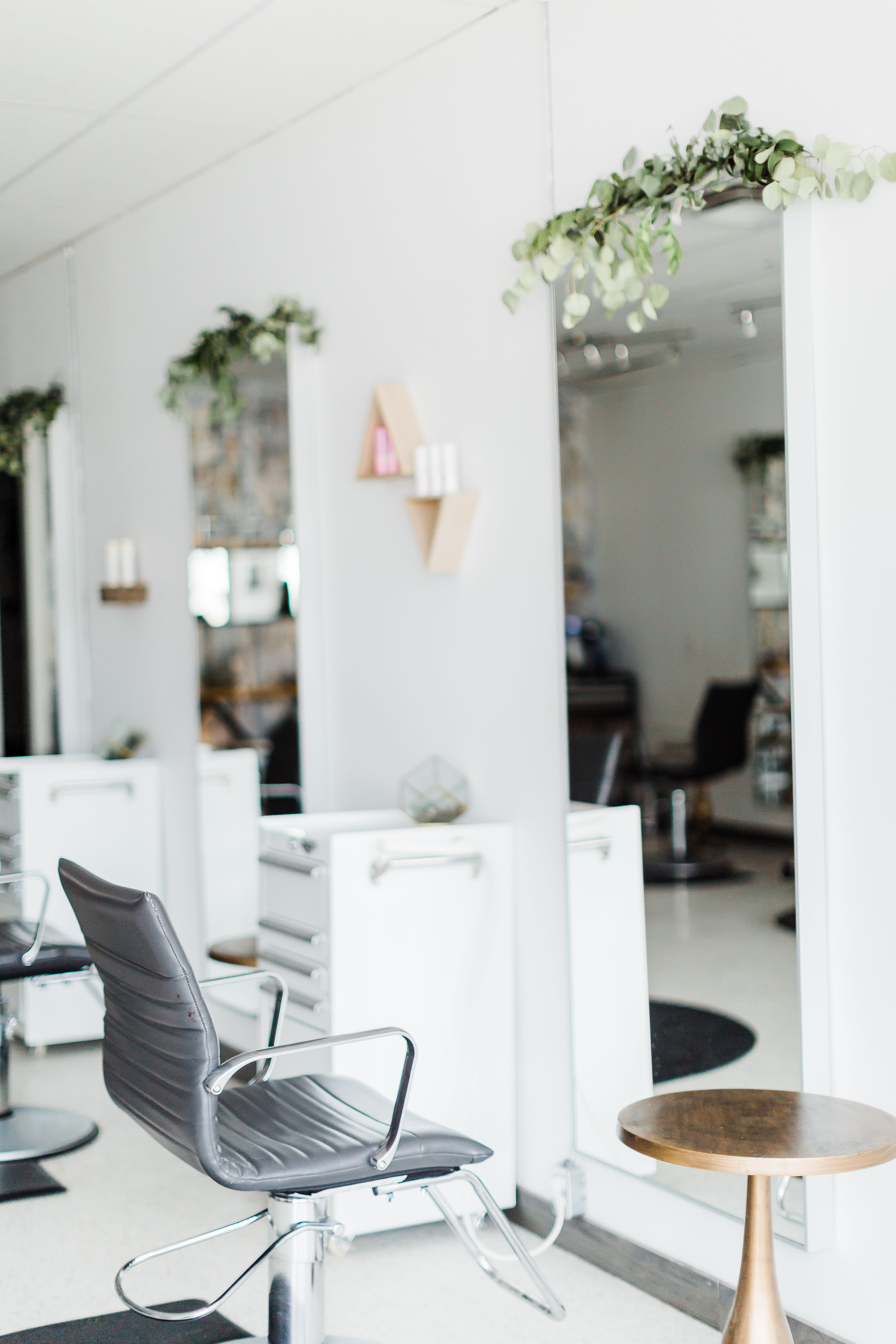 Salon Decor Inspiration From Hairologystudio Clean Earthy Rustic Salon Decor Hair Salon Decor Hair Salon Interior
