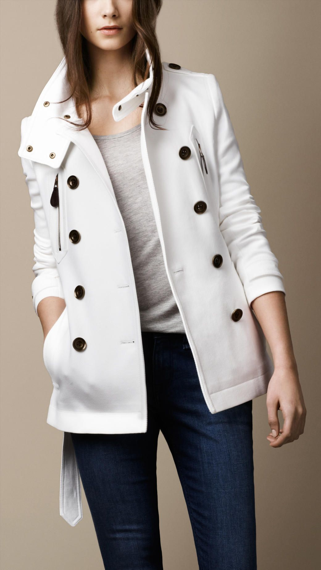 Burberry White Trench February 2017