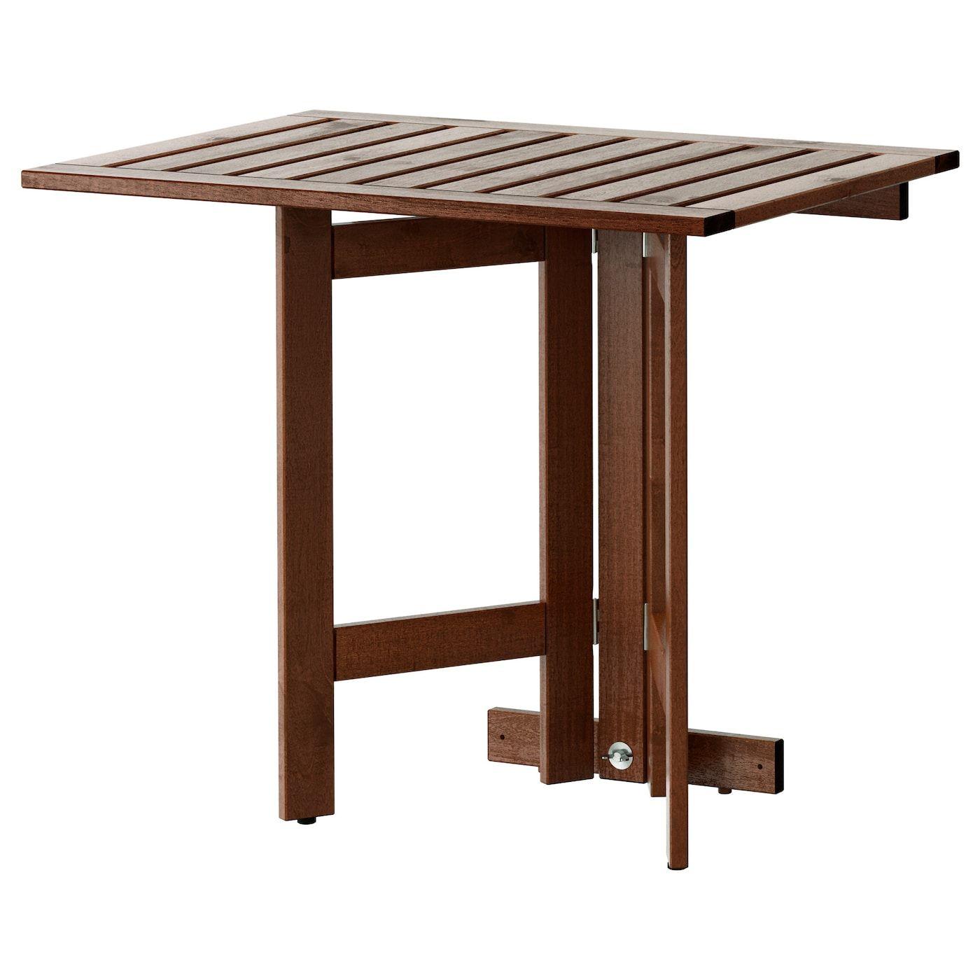 Applaro Lehajthato Fali Asztal Kulteri Barna Pacolt 80x56 Cm