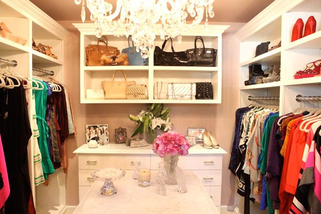 How to turn your messy closet into a chic boutique closet transformation dressing room and - How to turn a closet into a walk in dressing ...