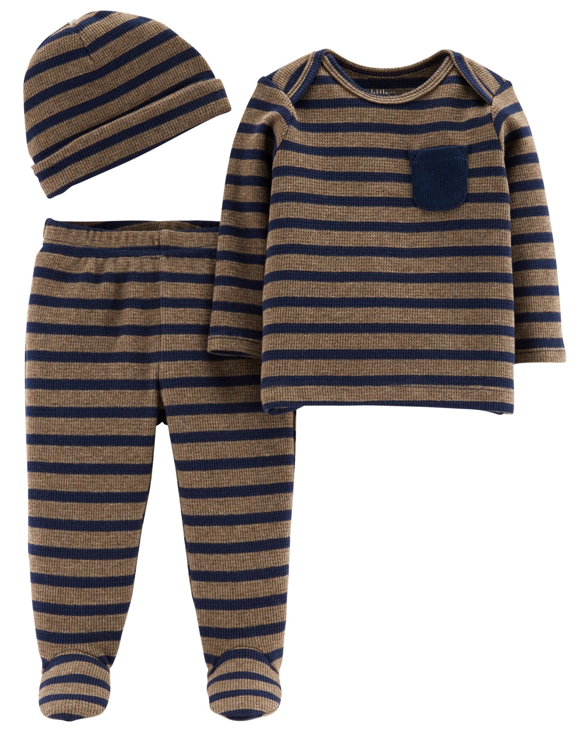 28774eb1d6cd Baby Boy 3-Piece Certified Organic Take-Me-Home Set