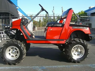 Yamaha Gas Golf Cart Lifted A-arm Off Road Tires Utility
