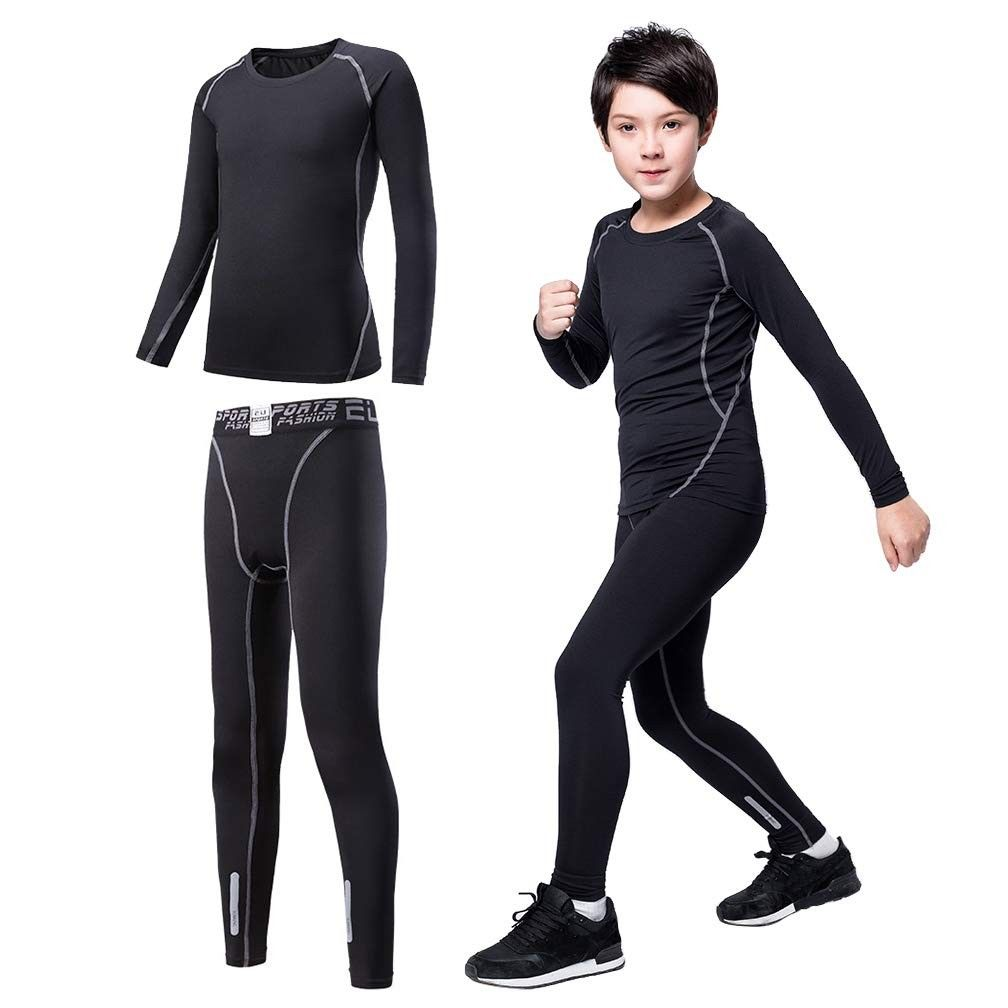 Men Compression Base Layer Long Pants And Top Running Trouser Running Suit