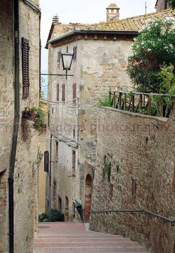 Staircase Art - Italian Architecture - Travel Wall Art - European Photography - Stone Walls - Italian Photography - Tuscany Italy & Tiny Art Print Italian Steps Travel Photography Stone Walls Photo ...