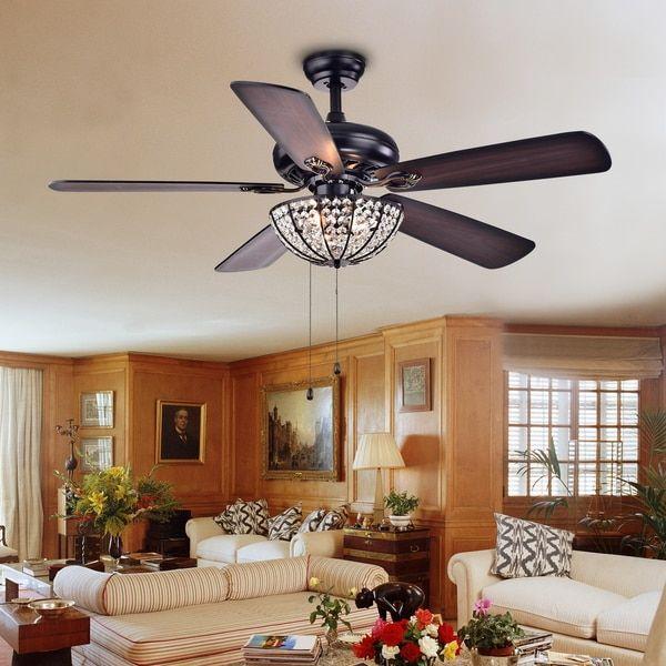 Hannele Bowl 3 Light Black 52 Inch Ceiling Fan Dining