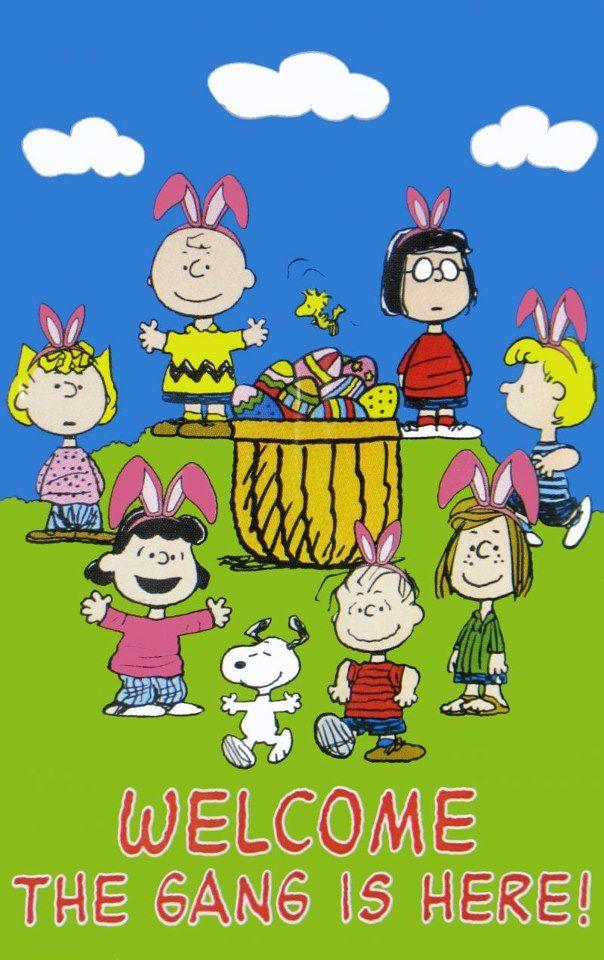 Snoppy Charlie Brown Und Snoopy Ostern Wallpaper