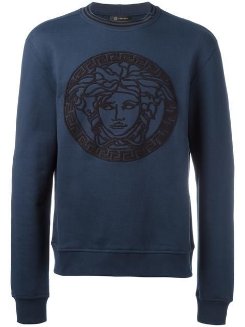 aea14dab Shop Versace embroidered Medusa sweatshirt. | get fresh in 2019 ...