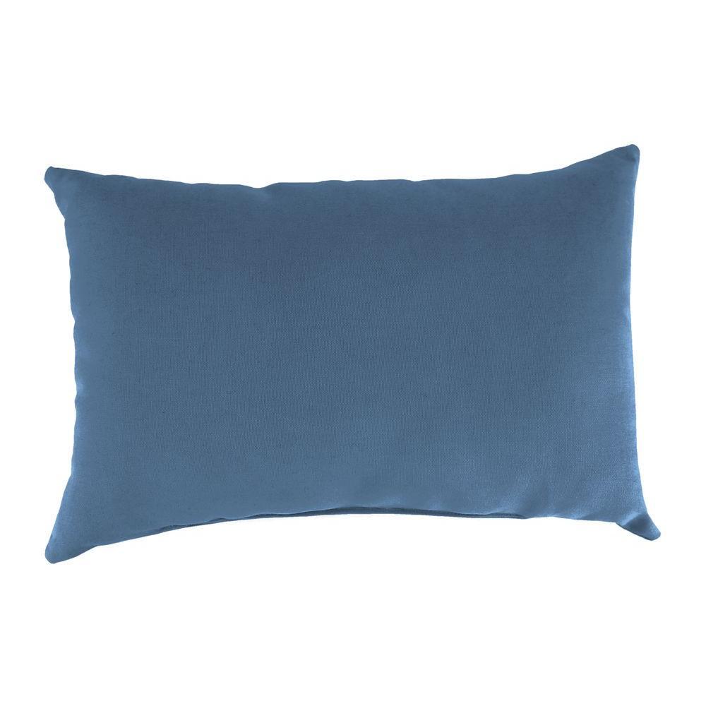 Jordan Manufacturing Sunbrella 9 In X 22 In Canvas Coal Lumbar Outdoor Pillow Dp183pk1 001h The Home Depot Outdoor Pillows Jordan Manufacturing Blue Outdoor Pillows