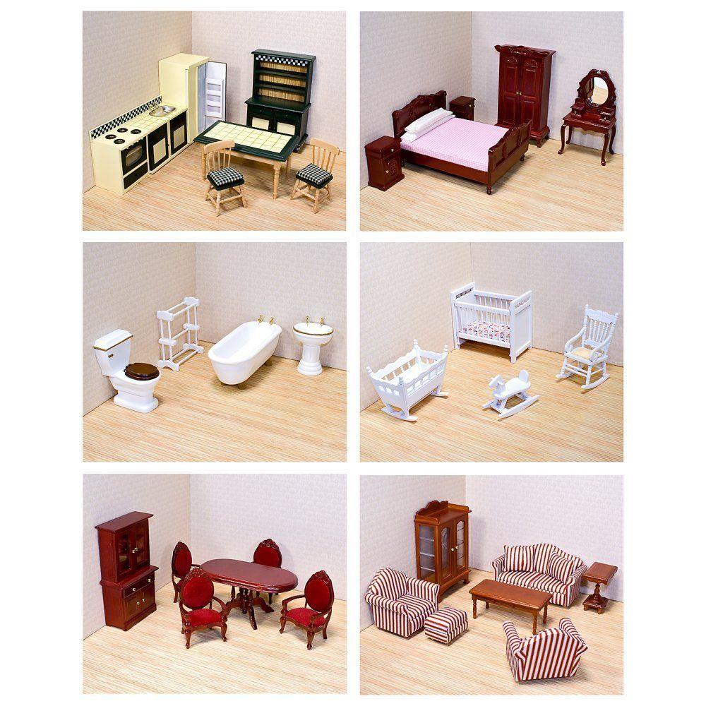 Amazon.com : Melissa & Doug Victorian Dollhouse Furniture Bundle : Melissa  And Doug Dollhouse