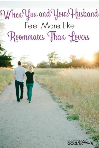 When You and Your Husband Feel More Like Roommates Than Lovers. #faith #christian #marriage #christianmarriage