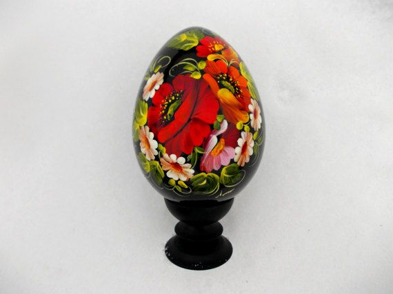 Easter egg with red poppies grandma gift sister easter decoration easter egg with red poppies grandma gift sister easter decoration easter gift for mom grandparent gift negle Image collections