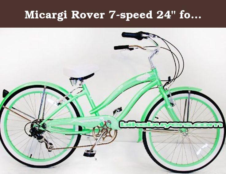 Micargi Rover 7 Speed 24 For Women Mint Green Beach Cruiser Bike Schwinn Nirve Firmstrong Style 24 Wheel S Beach Cruiser Bike Cruiser Bike Beach Cruiser