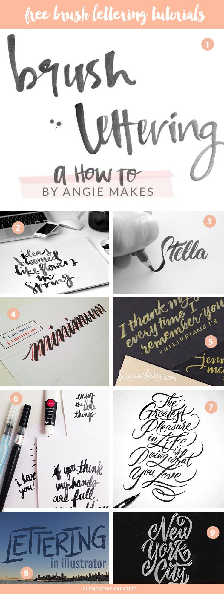 How to make modern brush lettering tutorial