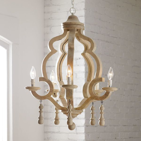 Caister 5 light candle style chandelier
