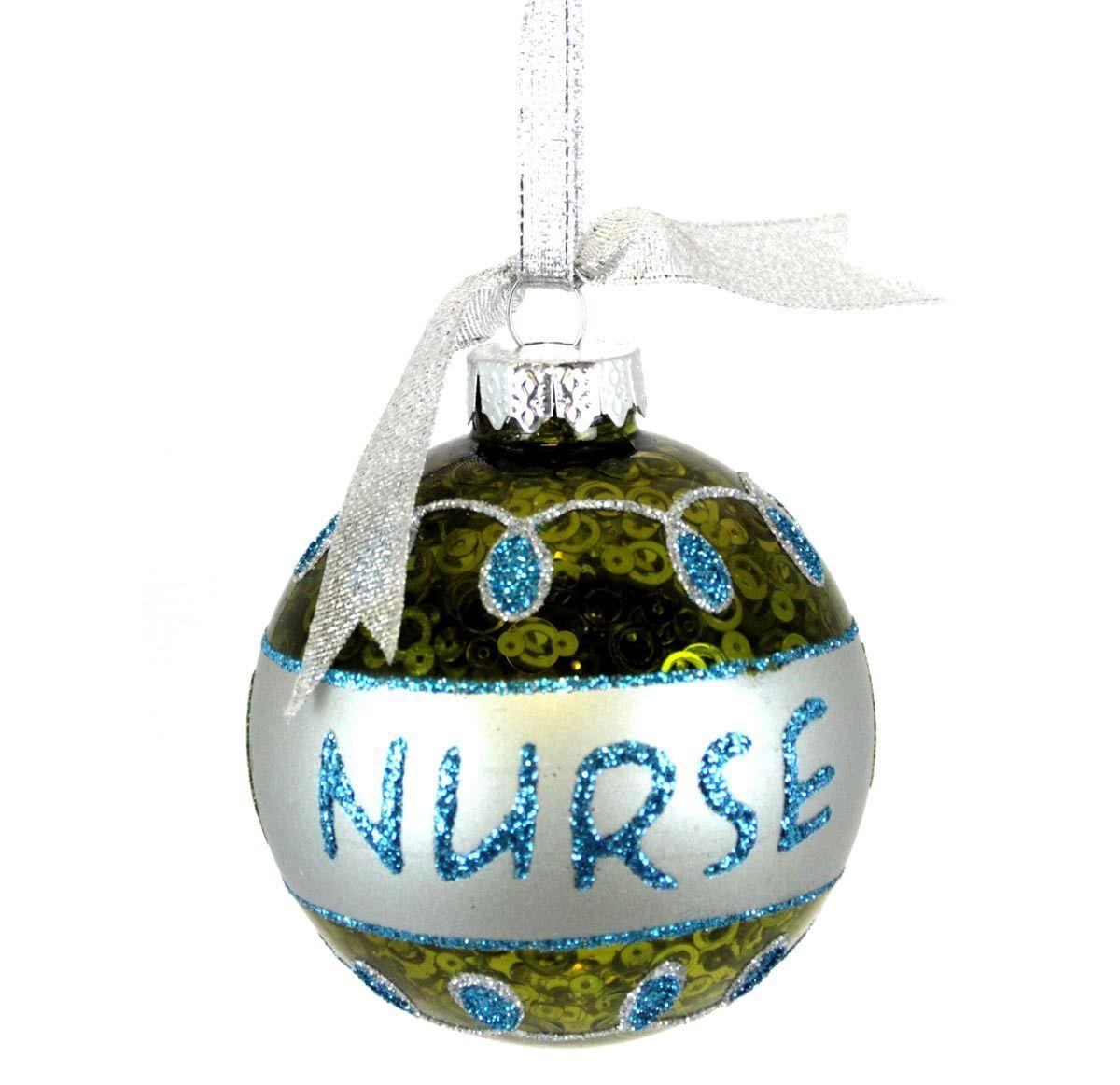 Glass Bulb Ornament Nurse | Ornament, Glass and Plastic canvas